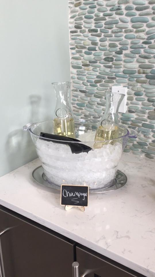 Champagne in ice bucket