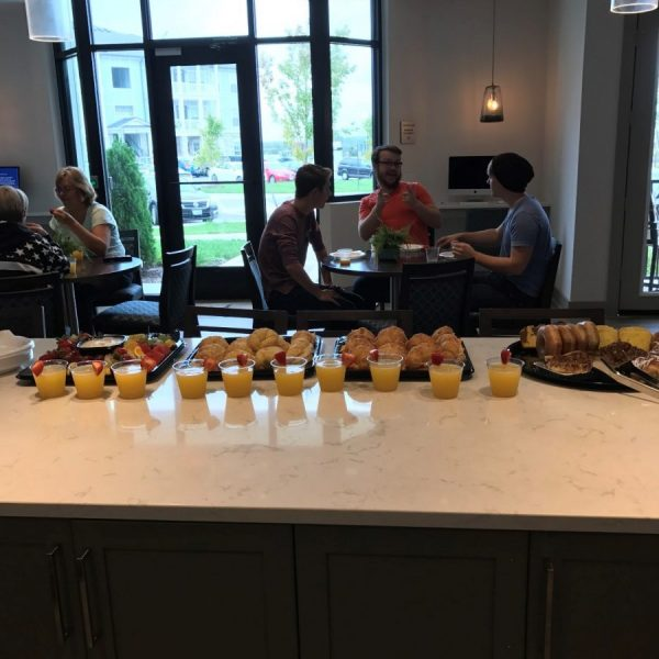 Mimosa brunch at Avia Apartments