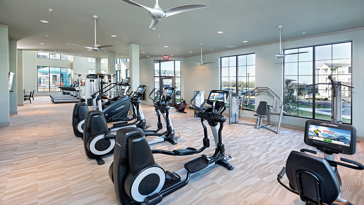 Elliptical machines in fitness area