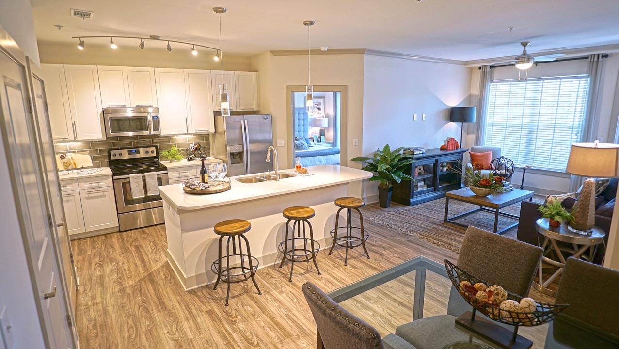 Luxury Apartment kitchen in Richmond, VA