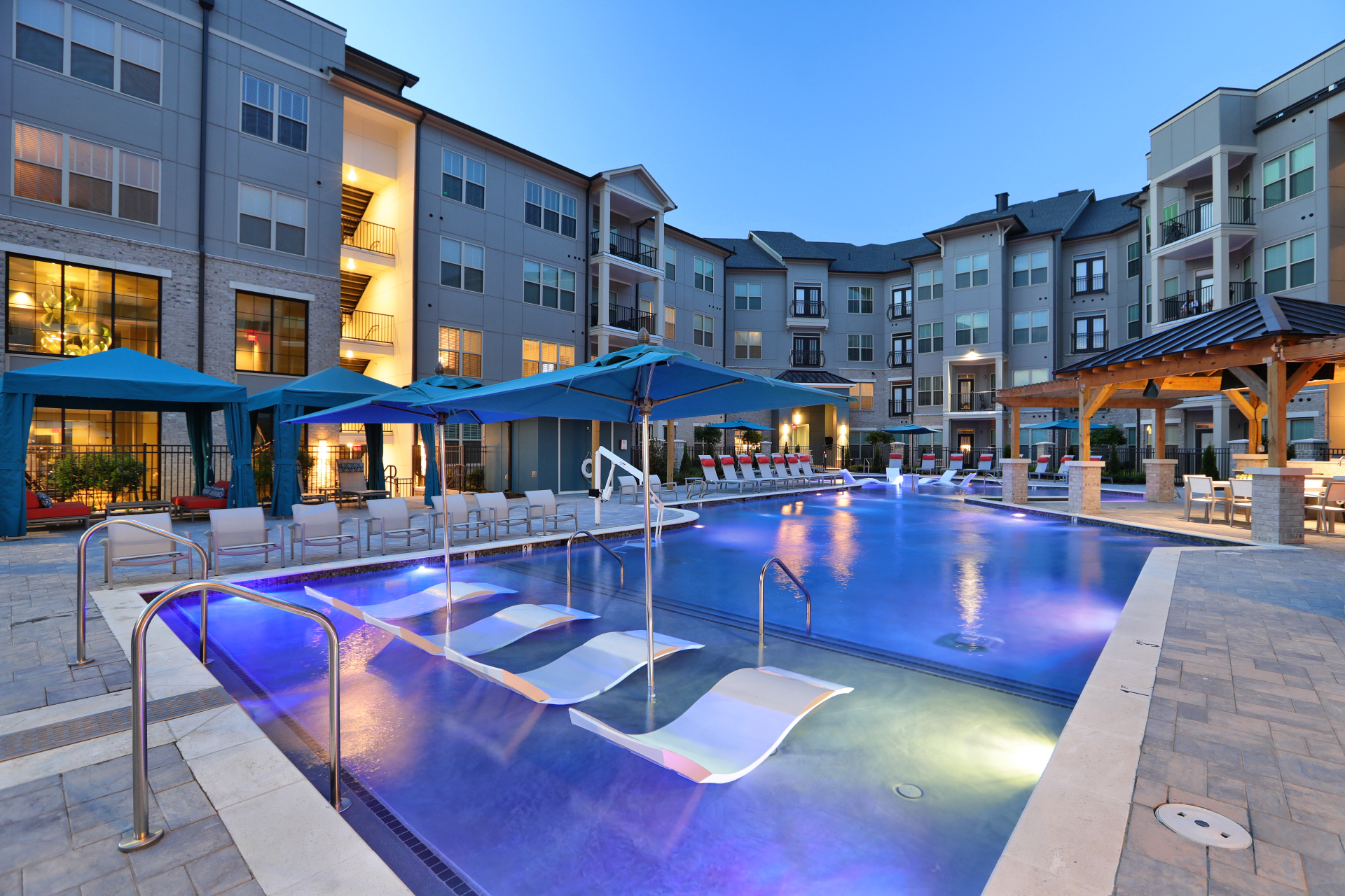 Pool at Avia Apartments in Short Pump