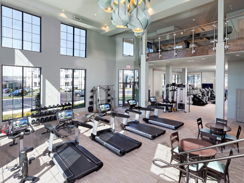 Fitness studio at Avia Apartments