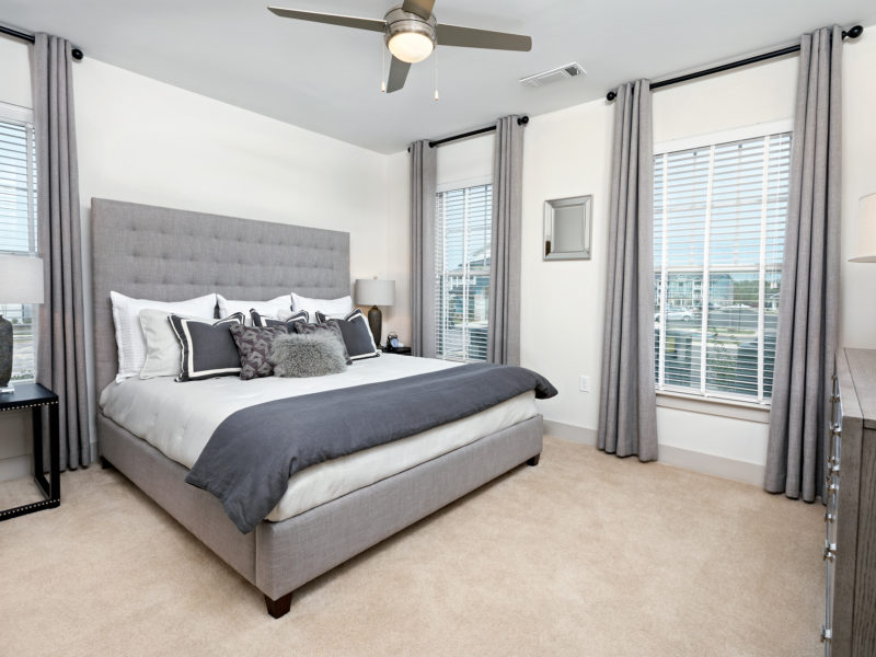 Master bedroom in Avia Apartments unit