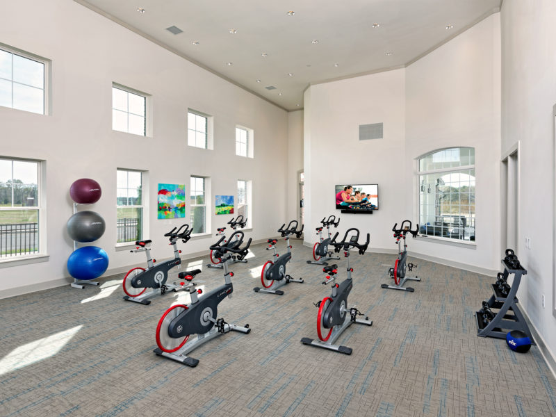 Fitness center at Avia Apartments