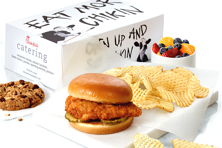 Chick-fil-A food spread