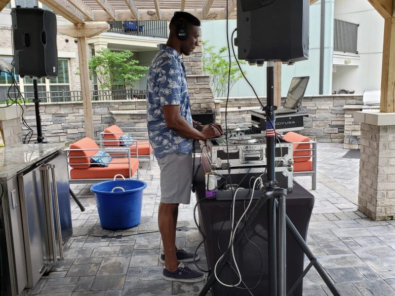 DJ at the pool party
