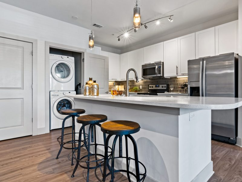 Luxury apartment kitchen and washer dryer