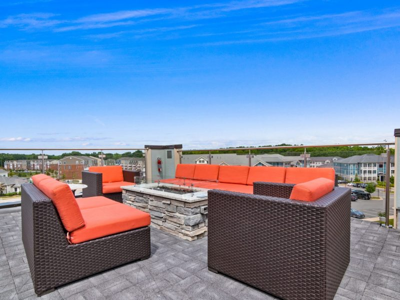 roof deck and fire pit