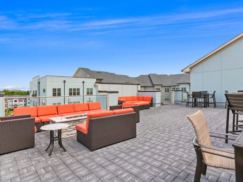 roof top with seating