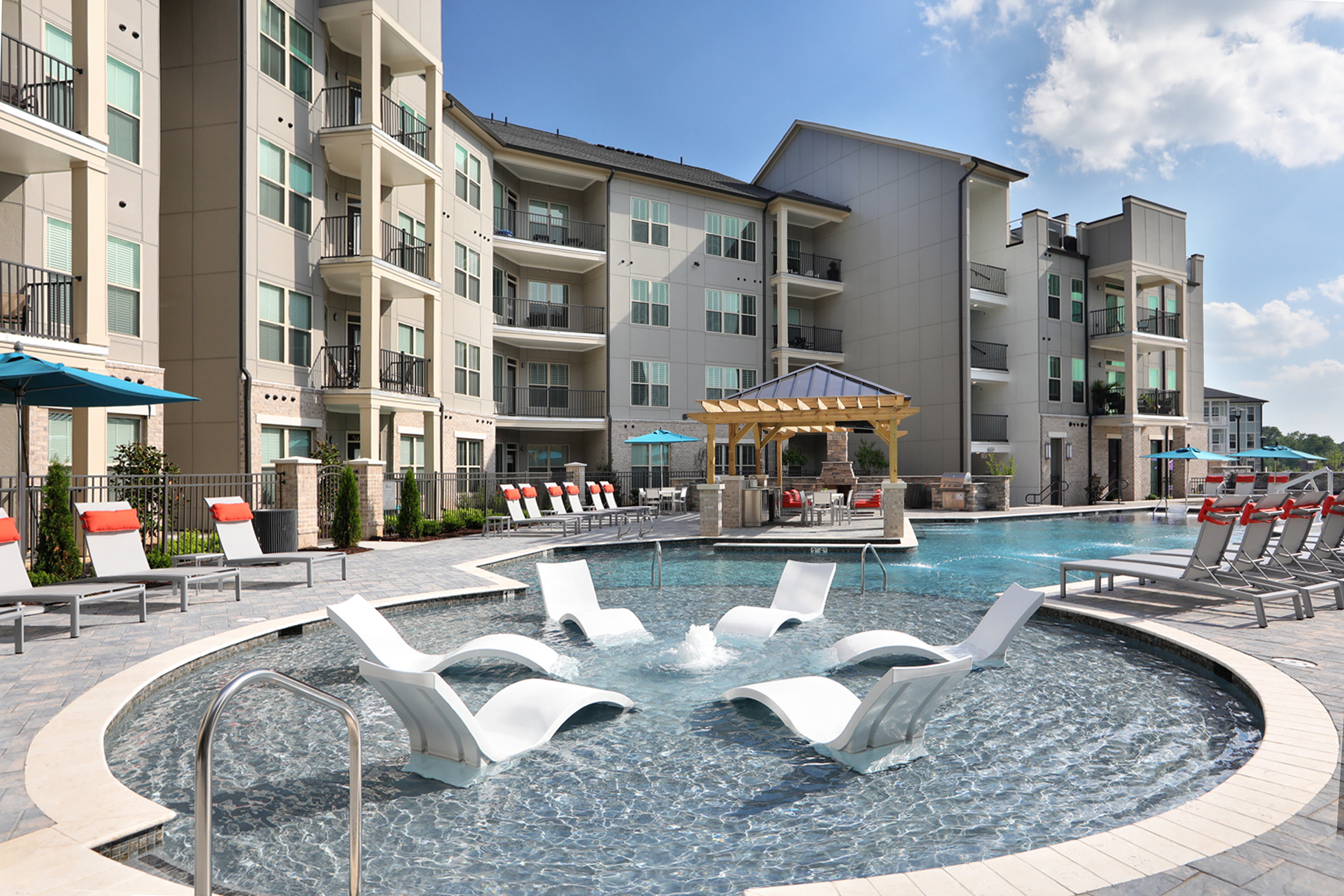 pool loungers at richmond apartments