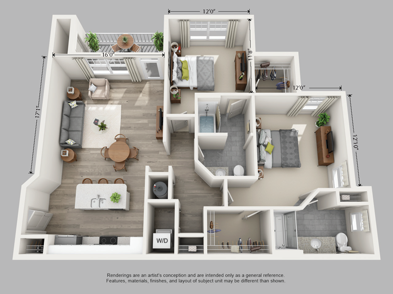 Avia 2 Bedroom Apartment Layout